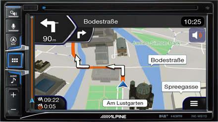 Built-in Navigation with TomTom Maps - INE-W611D