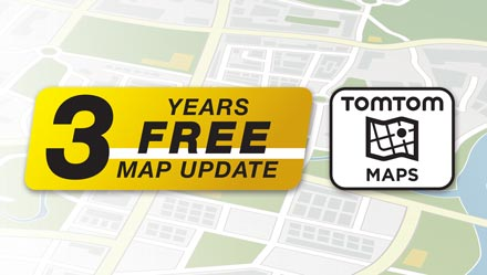 TomTom Maps with 3 Years Free-of-charge updates - INE-W710D