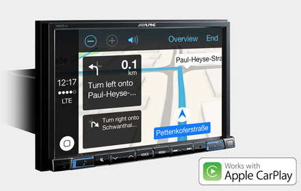 Online Navigation with Apple CarPlay - X802DC-U