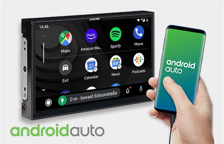 Works with Android Auto - X903D-EX
