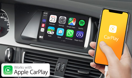 Audi A5 - Works with Apple CarPlay - X703D-A5