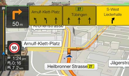 Navigation featuring TMC Route Guidance