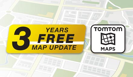 TomTom Maps with 3 Years Free-of-charge updates - X702D-F