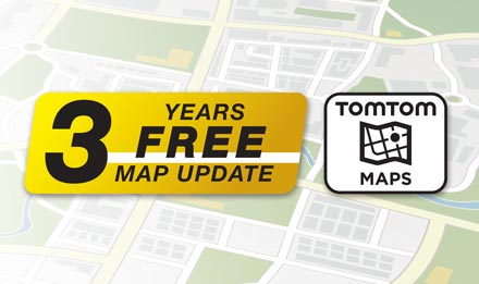 TomTom Maps with 3 Years Free-of-charge updates - X903D-G6